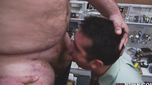 Broke straight guy gets doggy styled by a fat pig