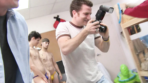 Horny bum drillers have kinky orgy party in dorm room