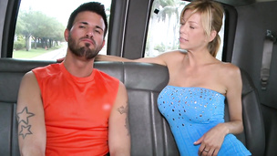 Busty babe loves tricking this hunk to fuck a twink