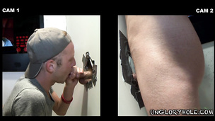 Alexis Fawx tricks kinky straight guy in glory hole room