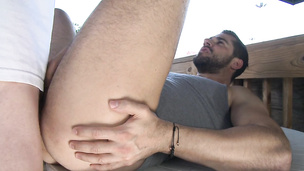 He bends over to get smashed by a big prick