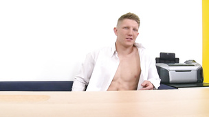 Slim cock sucker has his very first gay casting session