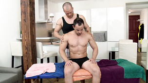 These two studs have a massage of their life time