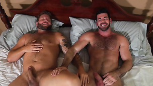Billy Santoro and Colby Jansen almost get interrupted during fucking