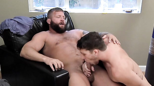 Dick sucking adventures with erect Colby Jansen and Paul Canon