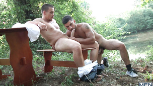 Adam Bryant and Vadim Black sucking and fucking outdoors hard
