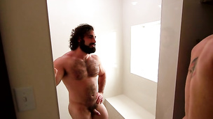 Hairy bear Jaxton Wheeler plows his little twink Roman Todd