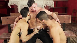 Getting together to try out some very hot threesome positions