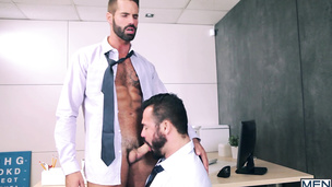 Dani Robles and Jessy Ares doing it in the office