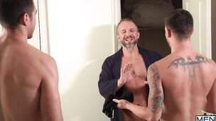 Dirk Caber and Sam Northman and Trevor Spade gay threesome