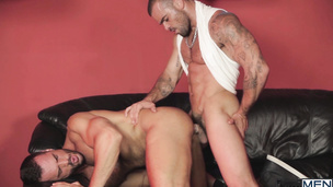 Damien Crosse bends over to get smashed by Denis Vega