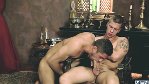 Hunky and hot Dato Foland and Paul Walker tickle balls