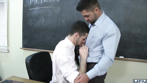 Teacher Dominic Pacifico  fucks his sexy gay student Jake Steel