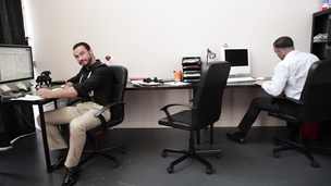 Hot colleagues Donato Reyes and Jessy Ares office bang doggystyle