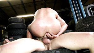 Auto shop ass fuck with Chip Young and Sebastian Young