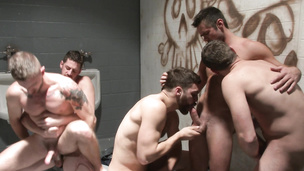 Andrew Stark loves having steamy orgy with his gay lovers