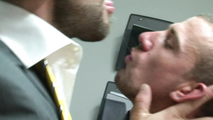 Office cock delights where Bruno Knight and Marco Sessions orgasm