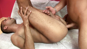 Feisty gay men fuck each other bareback really fucking hard