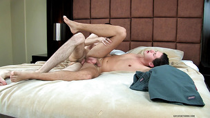 Trusting gay dude lets him drill his asshole very hard