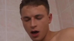 Gay loves having anal with his boyfriend under the shower