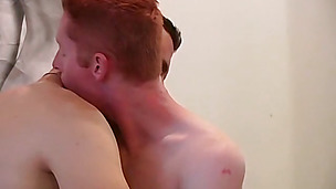 Irreplaceable ginger twink with a big dick fucks his boyfriend