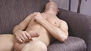 Blonde gay loves wanking it by himself more than anything